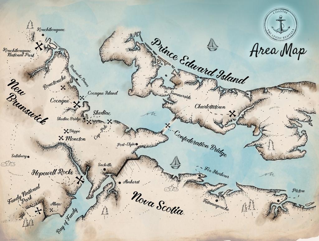 Map of Atlantic Canada PDF Download Maps